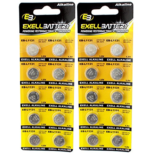 2pc 10pk Exell EB-L1131 Alkaline 1.5V Watch Battery Replaces