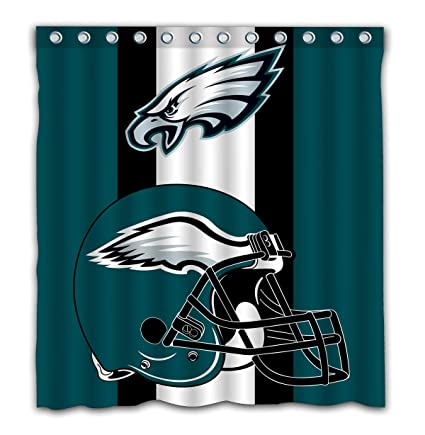 Amazon Com Potteroy Philadelphia Eagles Team Simple Design Shower