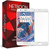 NETBOON® Original One Plus 3T Tempered Glass 2.5D Curved Surface Full Screen Cover Explosion-proof Screen protector for OnePlus 3T - White