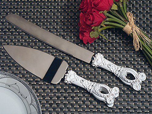 Enchanted wedding coach fairy tale wedding cake and knife set From FavorOnline