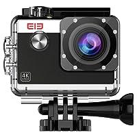 Elephone Action Camera WiFi 4K Sony 16MP 1080p/60fps Waterproof 30M Kit Accessori-Nero