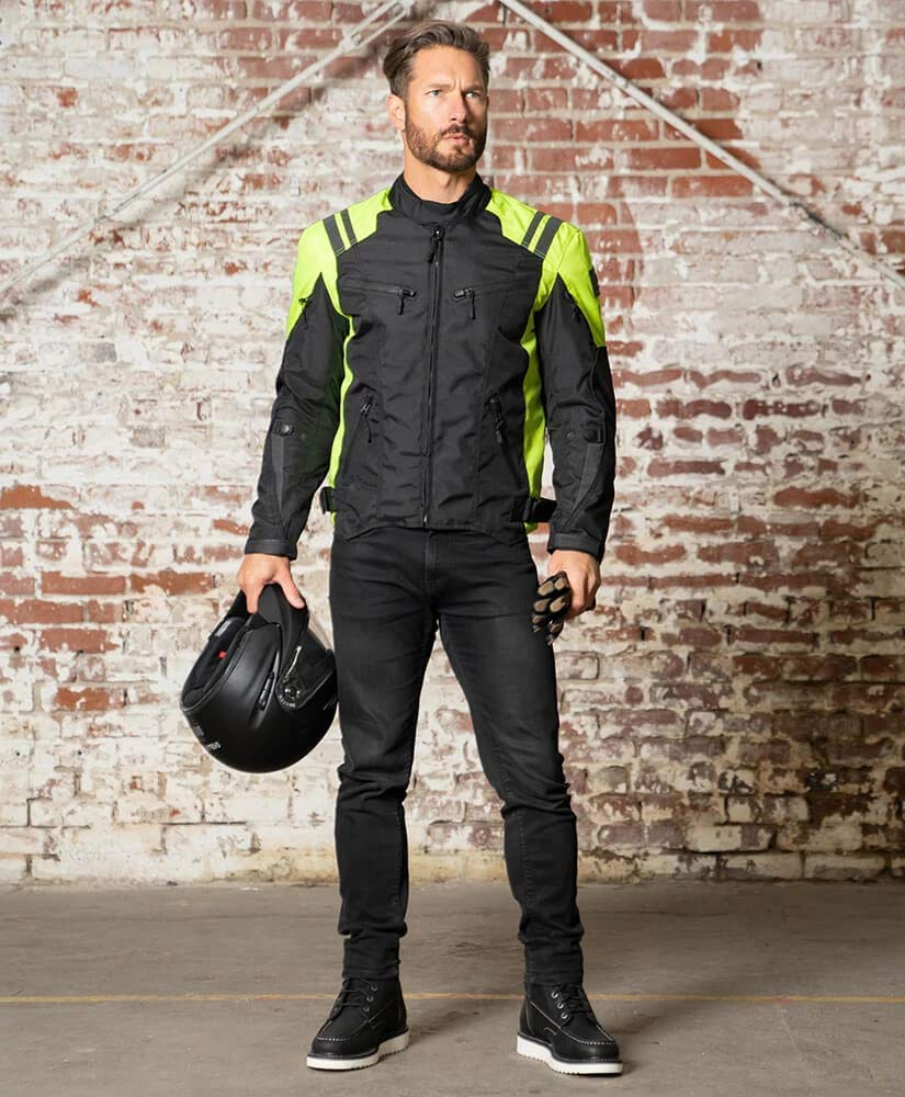 Viking Cycle Ironborn 2.0 Protective Textile Motorcycle Jacket for Men