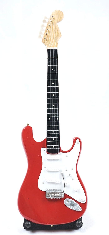 Guitarra en miniatura decorativa (24 cm), diseño de guitarra, color rojo: Amazon.es: Instrumentos musicales