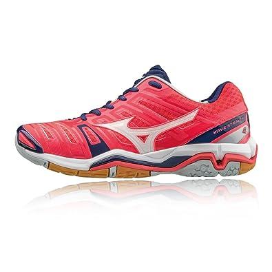 ADIDAS Damen Wave Stealth 4 Handballschuhe, Pink/Lila/Weiß, 37 EU