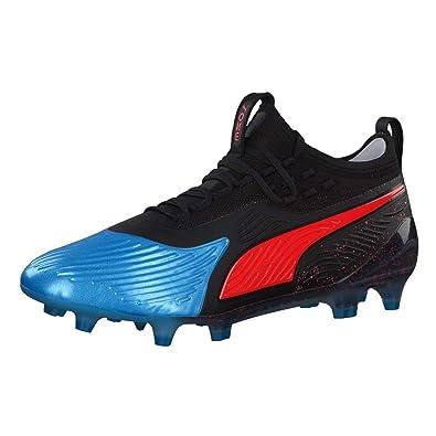 154fabf5df60d4 Puma Herren ONE 19.1 Syn FG AG Fußballschuhe Blau (Bleu Azur-Red Blast