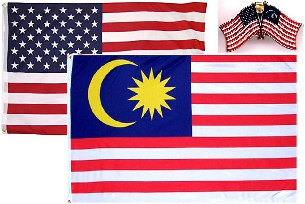 2x3 2/'x3/' Wholesale 2 Flag Combo USA American /& Philippines Premium Flags