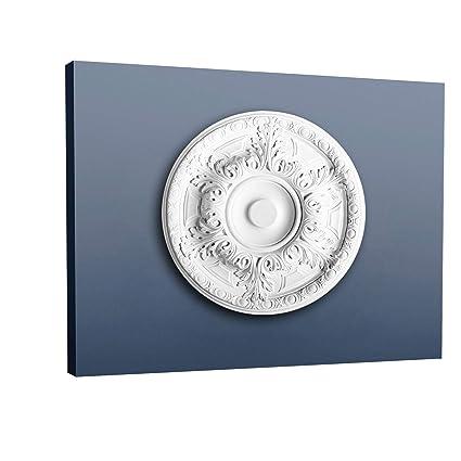 Rosetón Florón Elemento decorativo de estuco Orac Decor R18 LUXXUS para techo Motivo de hojas antigua