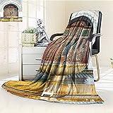 AmaPark Digital Printing Blanket Gen Fountain in Morocco Africa Mousque Palace Heritage Art Summer Quilt Comforter