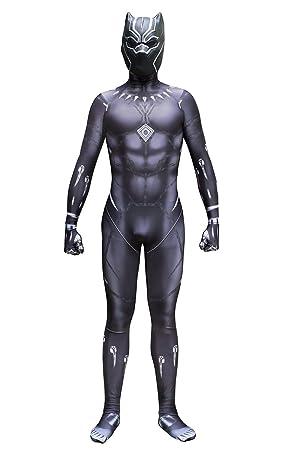 Sitila Traje de la Pantera Negra y Máscara Cosplay Adulto ...