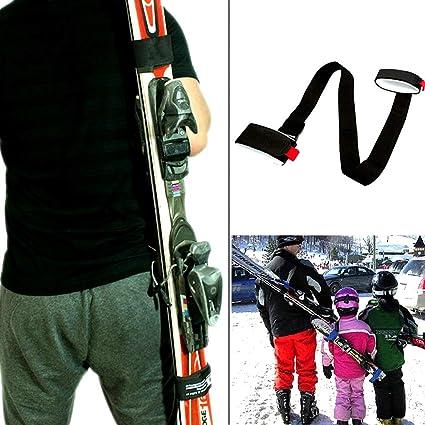 93f65de916 XJunion Ski and Pole Carrier Straps - Shoulder Ski Carrier Straps Sling  with Cushioned Holder -
