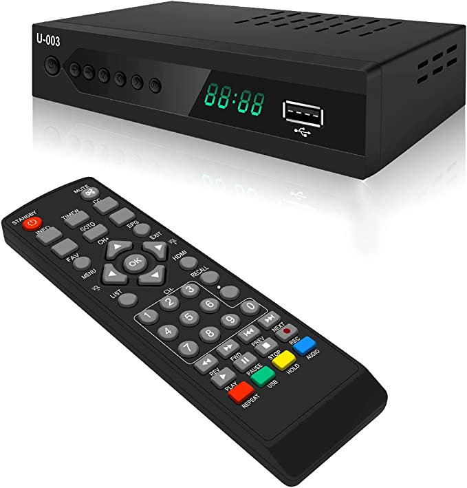 Kingbox Digital Converter Box for Analog TV HDTV Set Top Box for HD 1080P ATSC Tuner with Record and Pause Live TV 2019 Version USB Multimedia Playback