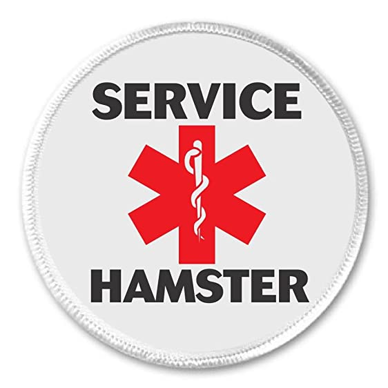 Amazon Service Hamster Medical Alert Symbol 3 Sew On Patch
