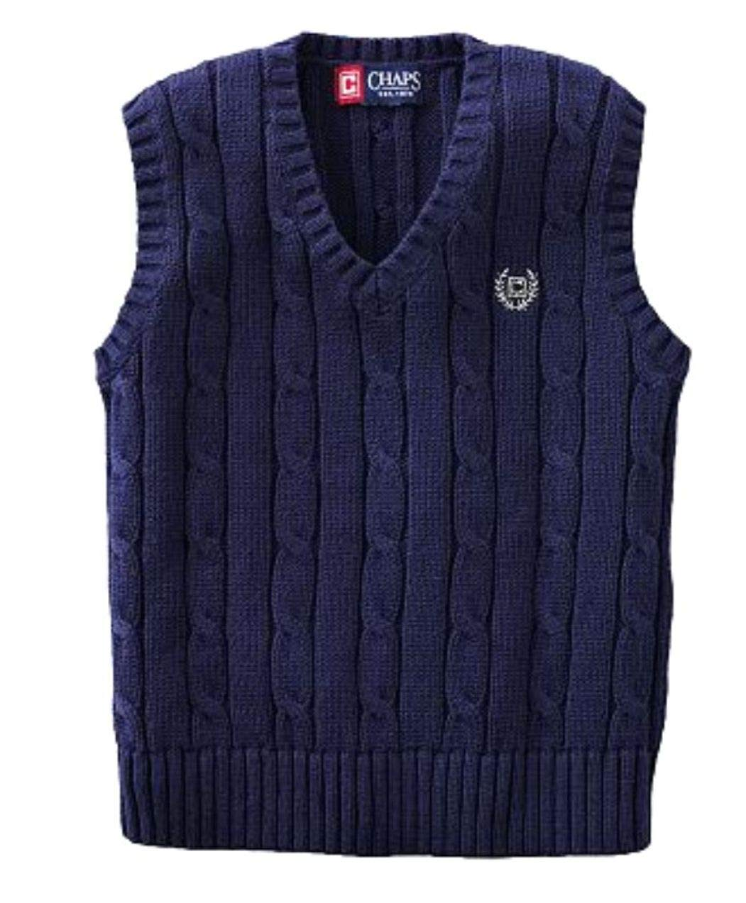 Chaps Cable-knit Sweater Vest - Boys (L (14-16))