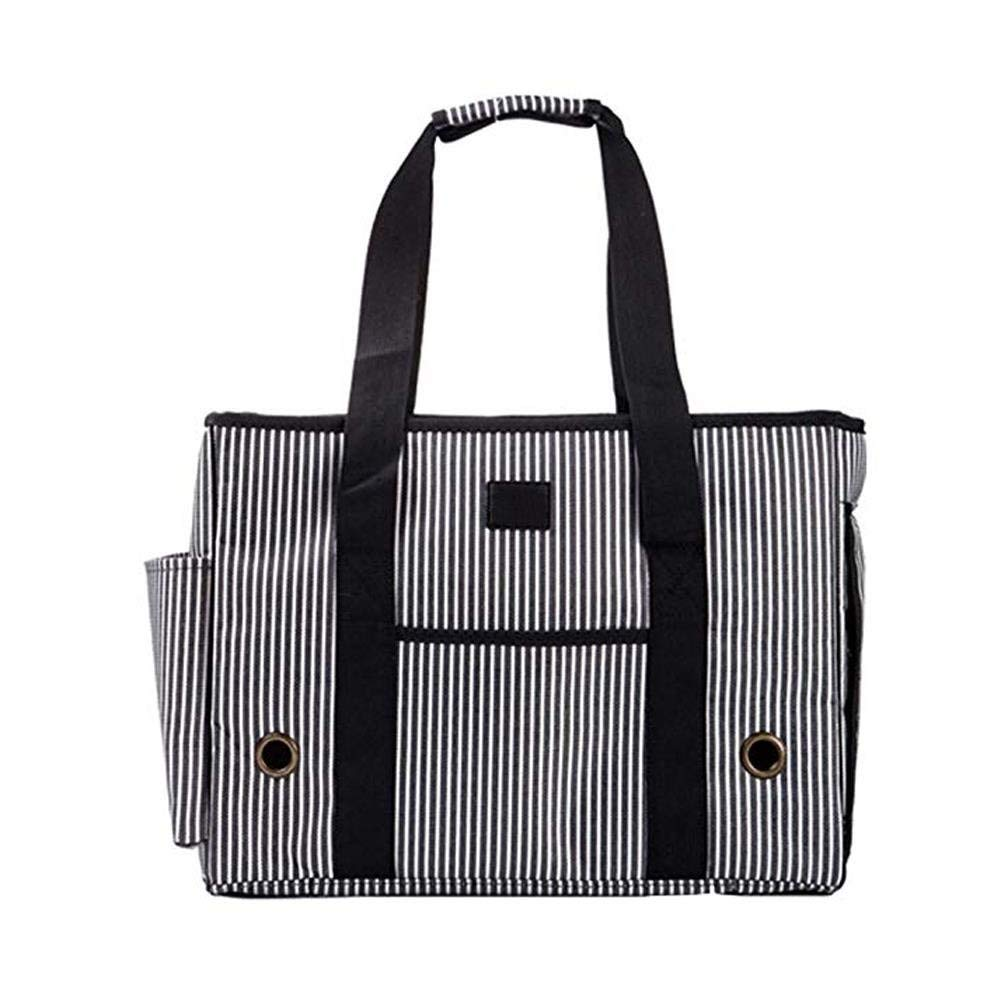 Xinnegen Portable Pet Outdoor Travel Carrier Portable Dog Cat Oxford Handbag Tote Bag With Removable Adjustable Strap (stripe)