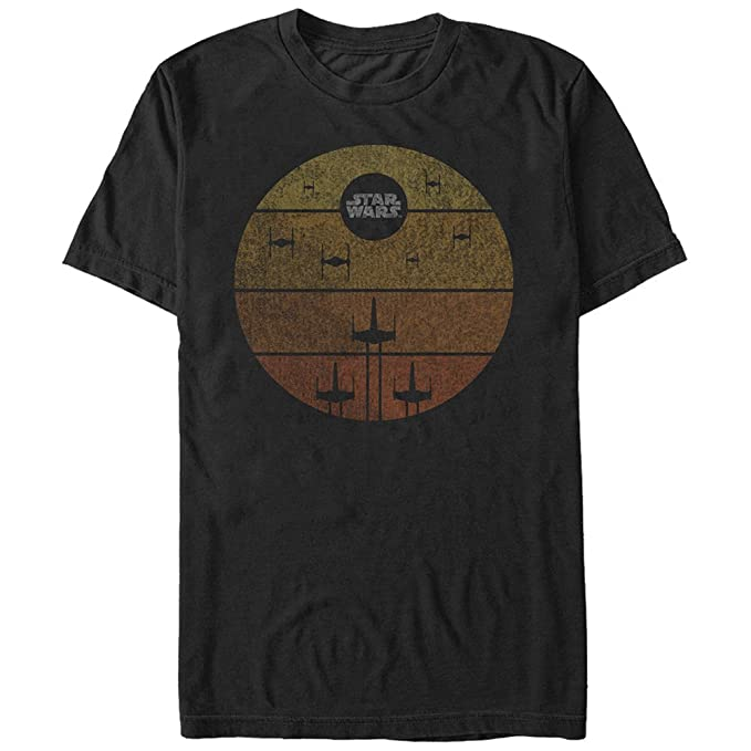 Star Wars Mens Lock on Target Graphic T-Shirt, Black, ...