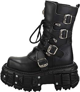 Rock Unisex Platform Boots in Black