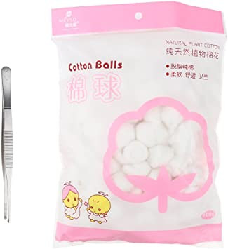 Bolas de algodón orgánico suave absorbente de 100 g para limpieza ...