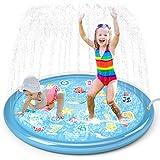 "Jasonwell Sprinkler for Kids Splash Pad Play Mat 60"" Baby Wading Pool for Toddlers Summer Outdoor Water Toys Kids Sprinkler P"