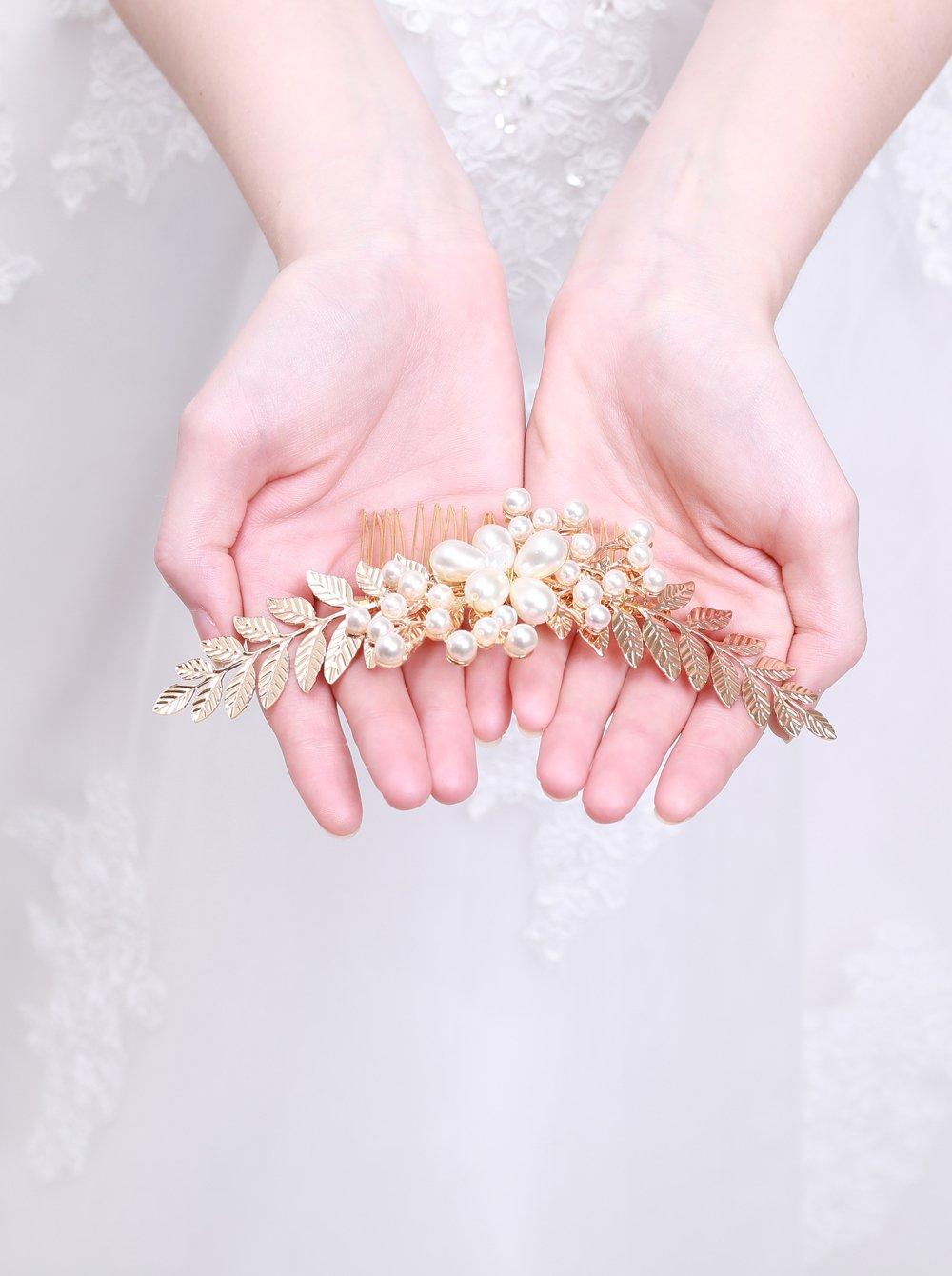 kercisbeauty boda decorativo Peines de novia peine de pelo diadema boda  pelo pieza Vintage peine de d4db1054c69d