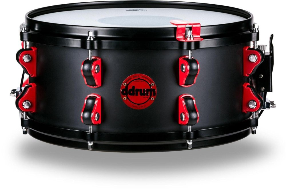 Ddrum Hybrid Snare Drum with Trigger 13 x 6 in. Satin Black HY SD 6X13 SB