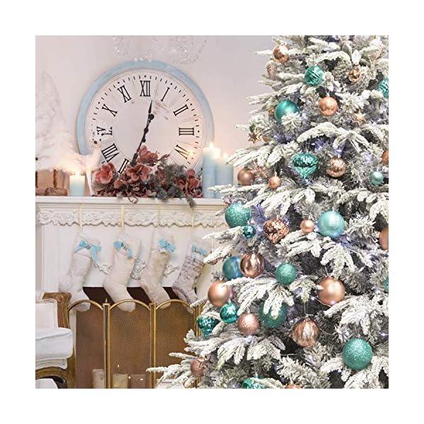 gotyou 30 Pezzo Palline di Natale, Accessori Decorativi per L'Albero di Natale, Natale Ornamento Bagattelle Albero, Porta Applique Ornamenti Decorazioni Albero Palle Decorative Festa 6 spesavip