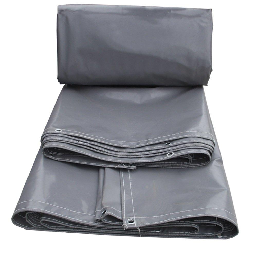 YANGFEI 防水シート 防水PVC耐水性のテントのトラックboxcar貨物ヤードシェードクロス高強度の日陰、耐雨、耐摩耗性、軽量 耐久性に優れています B07FC3BMPS 3x 3m|Gray Gray 3x 3m