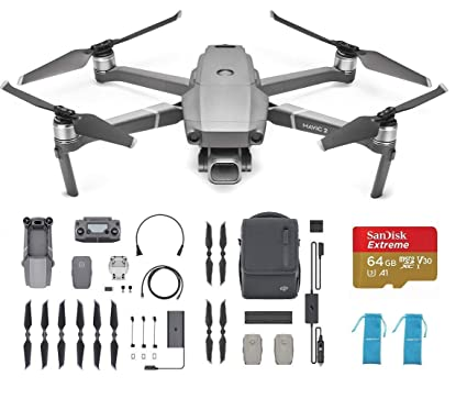 ca56d98cc10 Amazon.com: DJI Mavic 2 Pro Fly More Kit Combo Drone Collapsible Quadcopter  Bundle with Extra 64G Extreme SD Card: Toys & Games