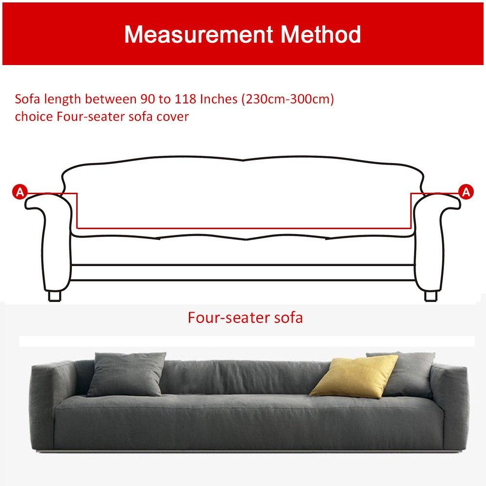 Light Tan Funda el/ástica de tela para sof/ás 1 seater:90-140cm de ParaCity