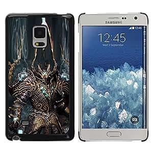 Paccase / Dura PC Caso Funda Carcasa de Protección para - Robot Alien Warrior Sword Art Armour Blue - Samsung Galaxy Mega 5.8 9150 9152