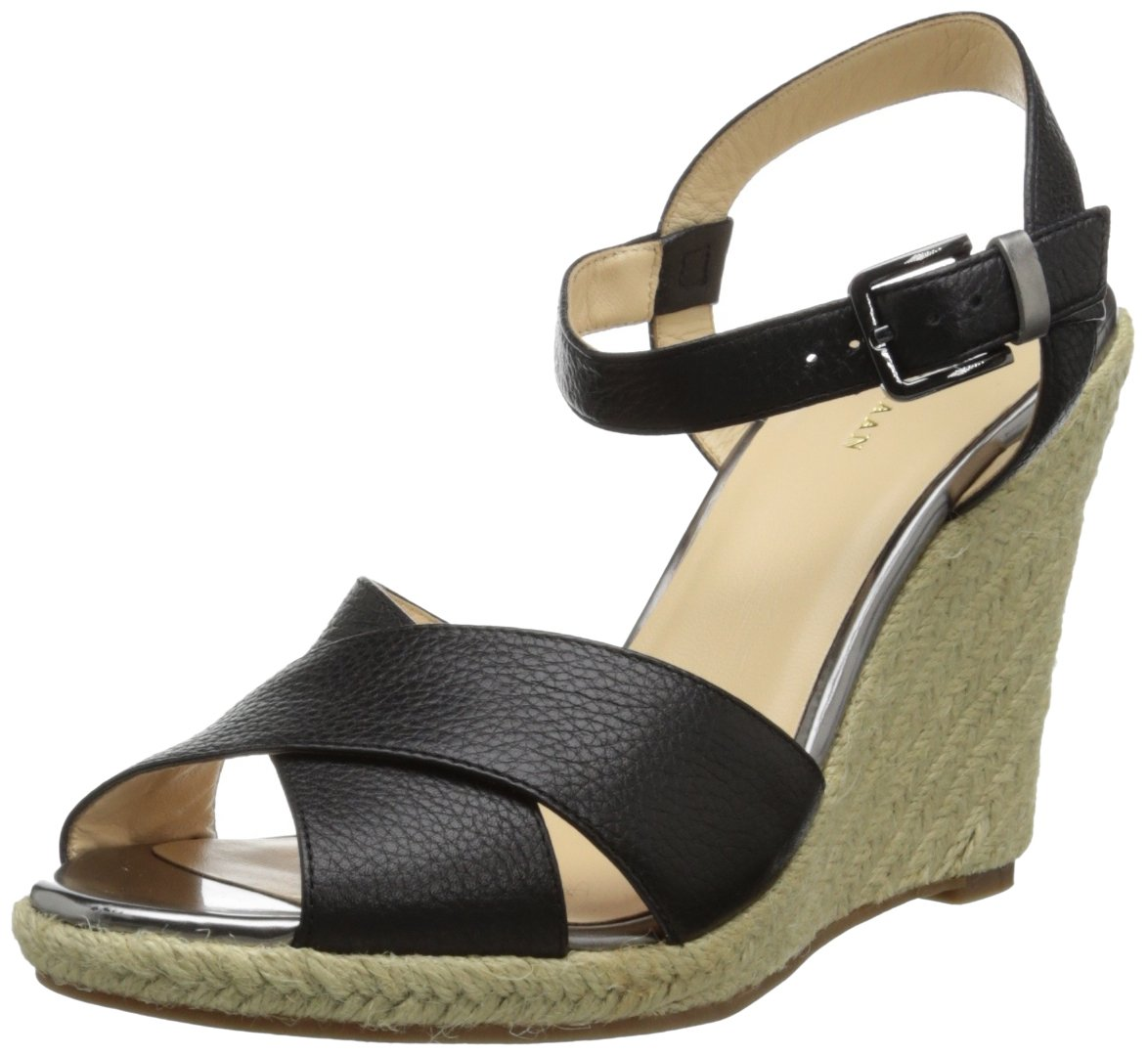 Cole Haan Women's Hart Wedge Sandal B00D7L0XUQ 9.5 B(M) US|Black