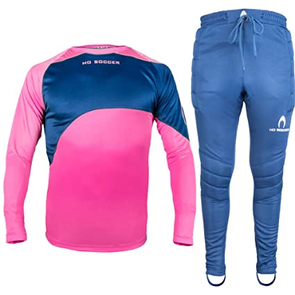 21393a6d7 Image Unavailable. Image not available for. Color  HO Soccer Junior Premier  Keepers Set Pink Goalkeeper Shirt   Padded Goalkeeper Trousers