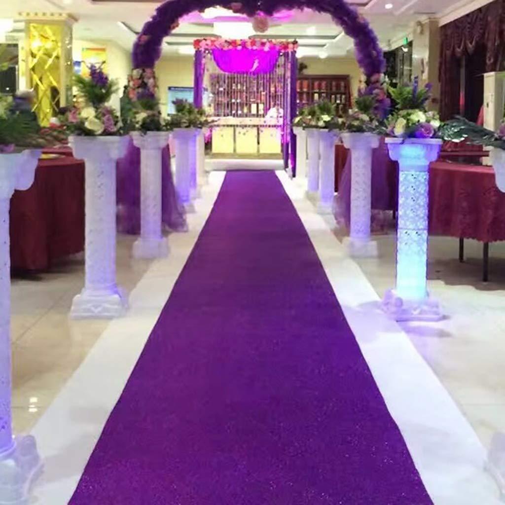Size : 1 * 10m Corredores de Pasillo for Exteriores en Interiores Corredor de Pasillo for Fiestas de Bodas A-Z Shiny Carpet Runner Purple
