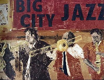 Brown Jazz Musicians Wallpaper Border 2232 TG