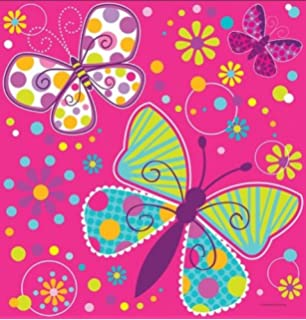 Amazoncom Happy Birthday Butterfly Theme Party Pack 18 Plates