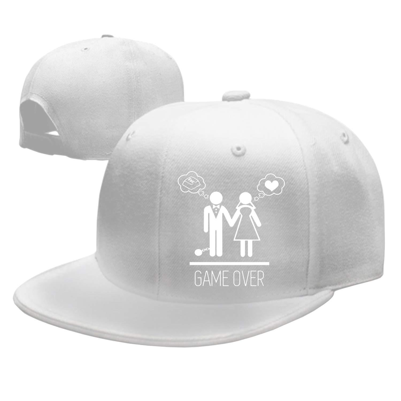 Rosventur Unisex Funny Game Over Junggesellenabschied Adjustable Baseball Cap Dad Hat