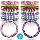 Spiral Hair Ties 20 Pcs Hair Rubber Bands