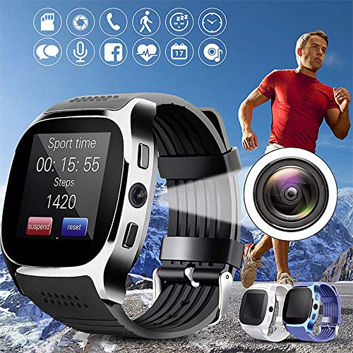 Amyove Bluetooth Smart Watch Phone Mate SIM FM Pedometer for Android iOS iPhone Samsung
