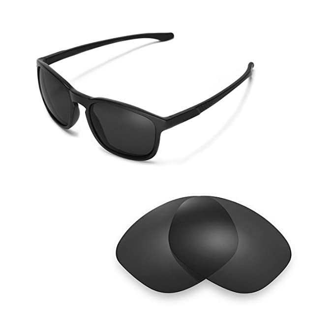 7cb468b0f7 Walleva Replacement Lenses for Oakley Enduro Sunglasses -Multiple Options  (Black - Polarized)