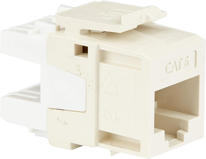 Grey 25-Pack Leviton 61110-BG6 Extreme Quick Port Connector