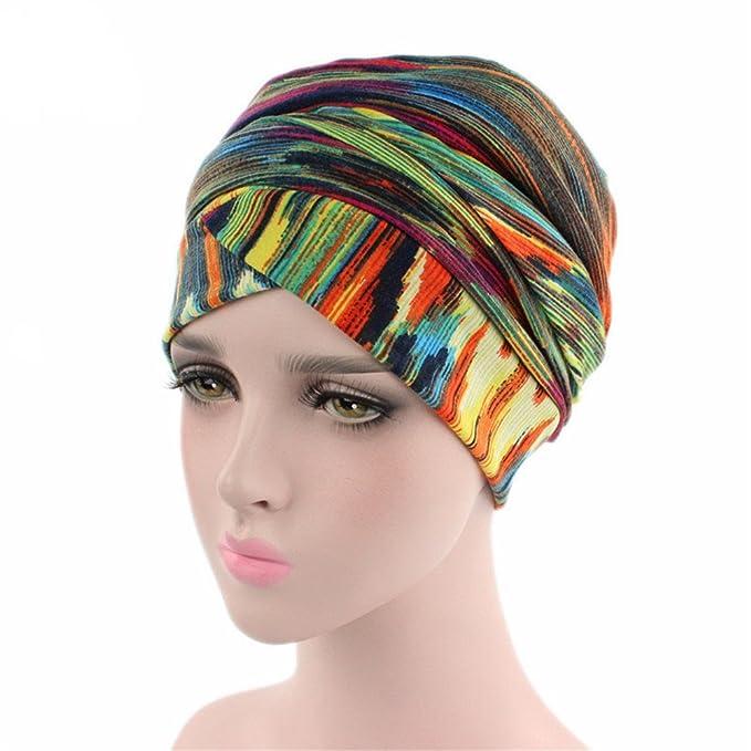 ZYCC Pañuelo de Cabeza Turbante, Pañuelo de Terciopelo Plisado Turbante Hijab Head Wrap Indian Headwrap