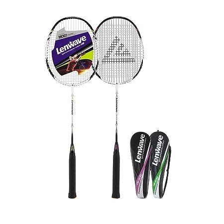 Amazon.com : Lenwave Badminton Set Two CarbonShaft Badminton Racquet Badminton Racket Set Including Badminton Bag Set of 2 (Pink) : Sports & Outdoors