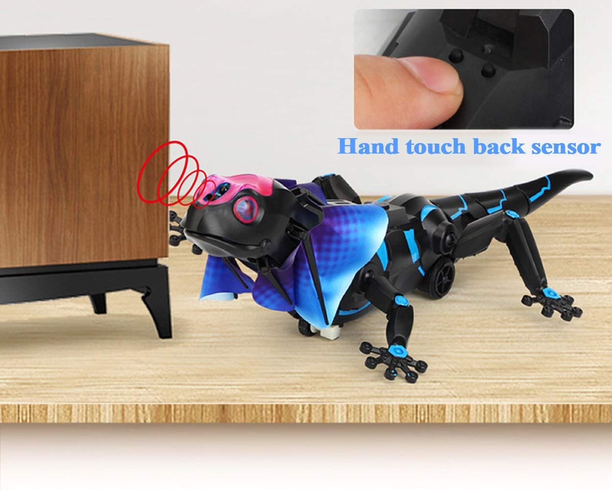 SOWOFA RC Animals Remote Controls Infrared Sensing Lizard Realistic Toy Moving Walking Color Change w/ Sound Lighting Electric Pet Joke Toys by SOWOFA (Image #6)