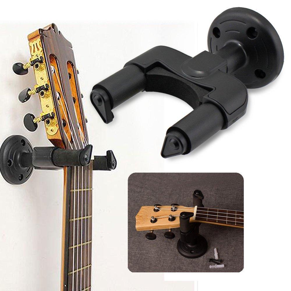 Soporte de pared con diseño de perchero para guitarra y bajo ...