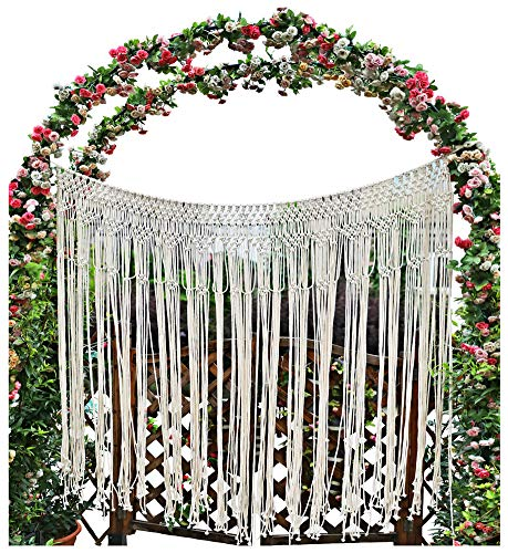"Pantaknot Large Macrame Boho Decor Wall Hanging Wedding Backdrop Arch Window Covering Headboard Curtain, 56""W x ()"