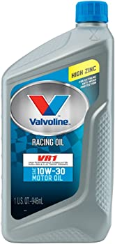 6-Pack Valvoline 10W-30 VR1 1qt Racing Motor Oil