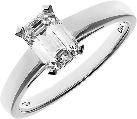 Anillo con diamante blanco de 18K
