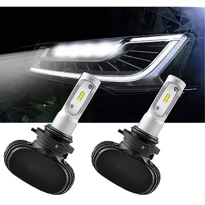 Wonderfulhz 9006 LED Headlight Bulb, 50W 6500K 8000Lumens Extremely Bright HB4 CSP Chips Conversion Kit: Automotive