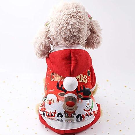 GHYSTORM Ropa de Gato de Navidad Perro de Mascota Traje de ...