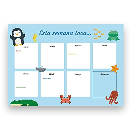 Graficarium Planificador de tareas familiar con motivos infantiles A4
