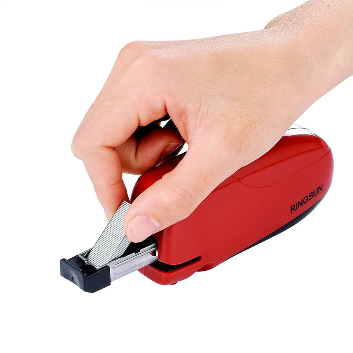 RINGSUN Electric Stapler Automatic 10 Sheets Capacity AC USB Power Or Battery Office School Home Use by RINGSUN (Image #5)